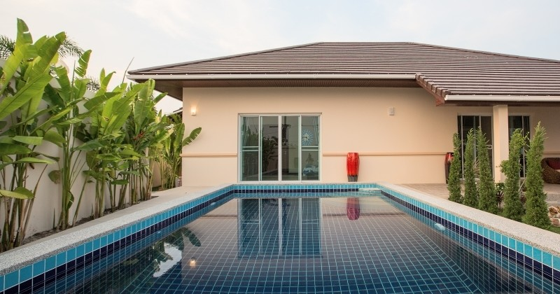 Western And Asian Style Pool House For Sale In Hua Hin