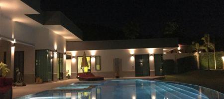 Fabulous modern luxury pool villa on large plot near beach