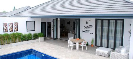 Modern low maintenance pool villas with minimal running costs near Black Mountain