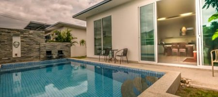 Modern 2 Bed Pool Villa Near Town (11333)